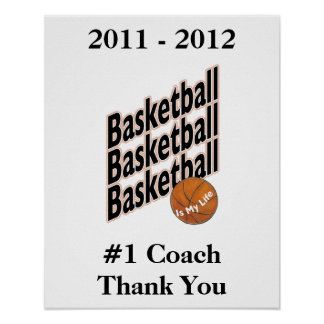 Signature Poster for 1 Basketball Coach