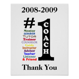 Signature Poster for #1 Coach