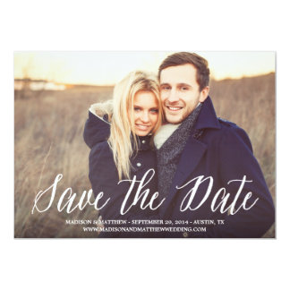 "Signature | Save the Date Announcement 5"" X 7"" Invitation Card"
