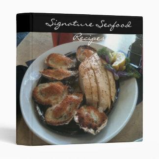 Signature Seafood Recipe Binder