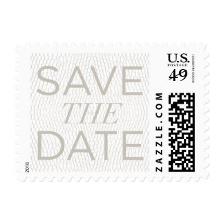 Signature Snake Print Save-the-Date Postage Stamp