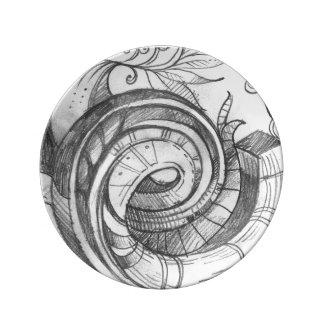 Signature Spiral Doodle plate