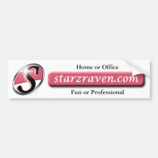 Signature Starzraven.com bumper sticker