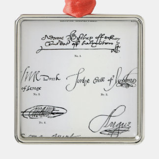 Signatures of 16th and 17th century metal ornament