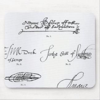 Signatures of 16th and 17th century mouse pads