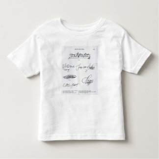 Signatures of 16th and 17th century t shirt