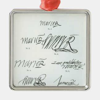 Signatures of Mary Queen of Scots Ornament