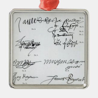 Signatures of Scottish 15th and 16th century Metal Ornament