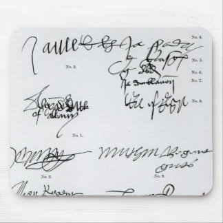 Signatures of Scottish 15th and 16th century Mouse Pads
