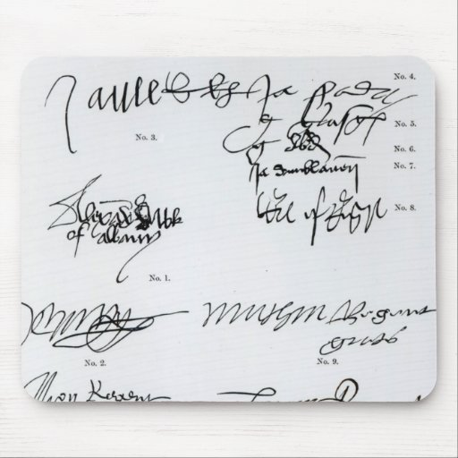 Signatures of Scottish 15th and 16th century Mouse Pad