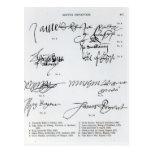 Signatures of Scottish 15th and 16th century Postcard