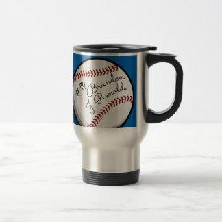 Signed Baseball Customized Name Travel Mug