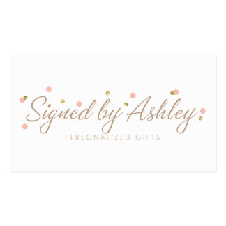 Signed by Ashley Custom Business Cards