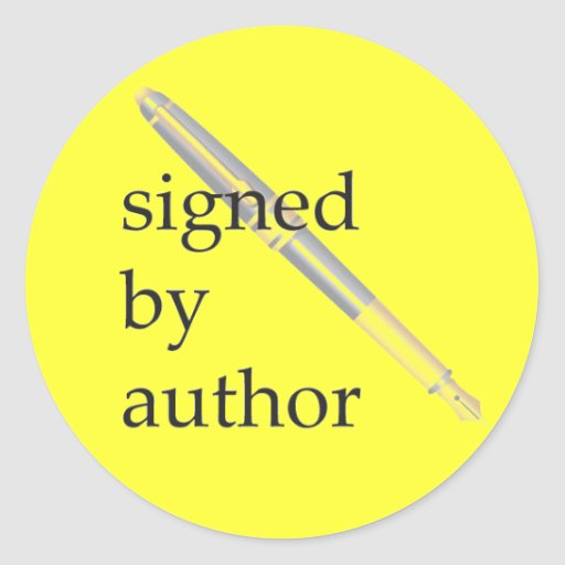Signed by Author stickers - Customizable