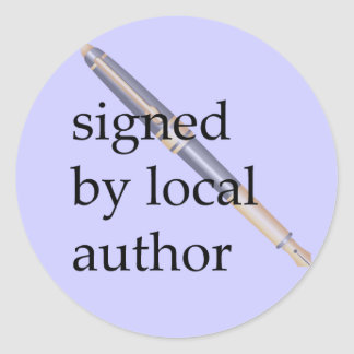 Signed by Local Author Round Sticker