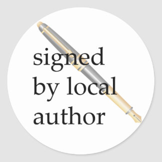 Signed by Local Author Round Stickers