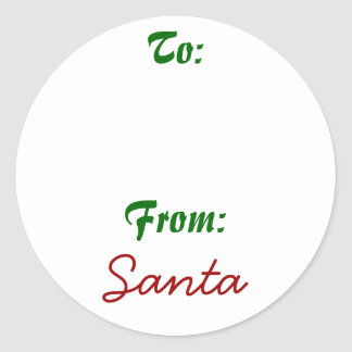 Signed by Santa! Round Stickers