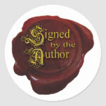 """Signed by the Author Sticker<br><div class=""""desc"""">This beautiful custom signed by the author sticker is beautiful at book signings.</div>"""