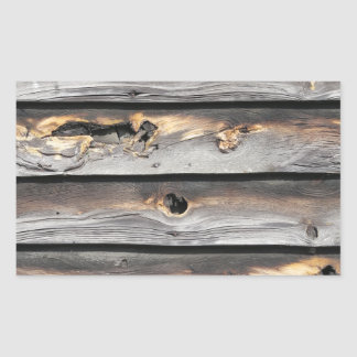signed by the weather as old wood background rectangular sticker