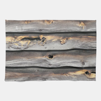 signed by the weather as old wood background towel