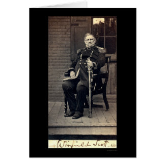 Signed Card of General Winfield Scott 1858