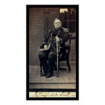 Signed Card of General Winfield Scott 1858 Poster
