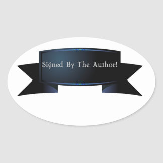 Signed Copy Banner Oval Sticker