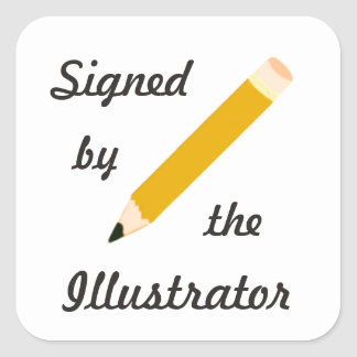 Signed Copy - Illustrator - Square Stickers (#54)