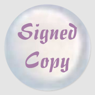 Signed Copy - Round Stickers (33)