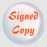 Signed Copy - Round Stickers (36)