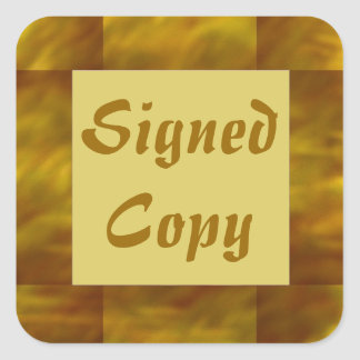 Signed Copy - Square Stickers (12)