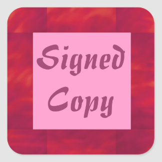 Signed Copy - Square Stickers (14)