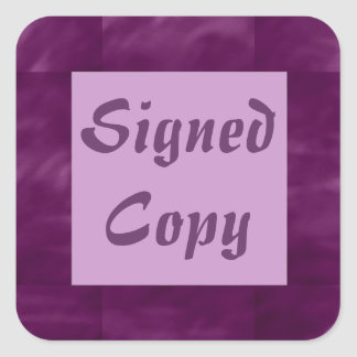 Signed Copy - Square Stickers (15)