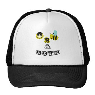signed happy2bee a goth. trucker hat