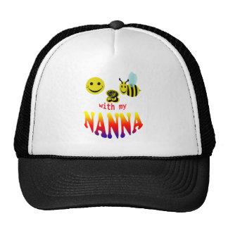 signed happy2bee with my nanna trucker hat