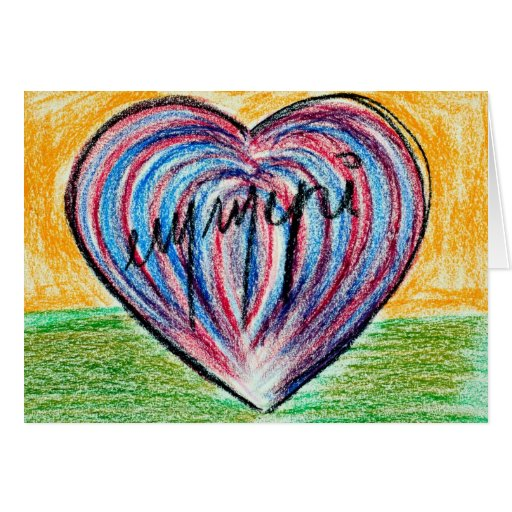 signed heart card