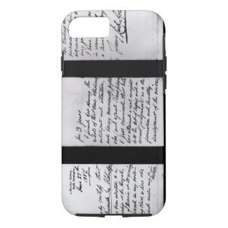 Signed letter, 1887 (pen and ink on paper) (b/w ph iPhone 7 case