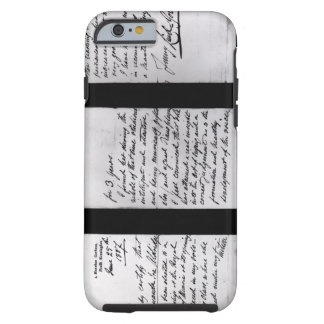 Signed letter, 1887 (pen and ink on paper) (b/w ph iPhone 6 case
