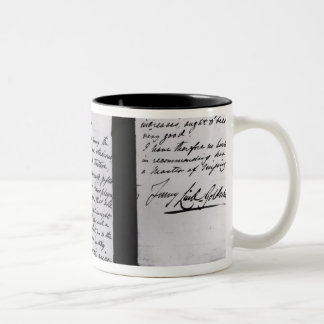 Signed letter, 1887 (pen and ink on paper) (b/w ph Two-Tone coffee mug