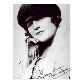 Signed photograph of Marie Lloyd Postcard