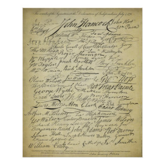 Signers of the Declaration of Independence Print