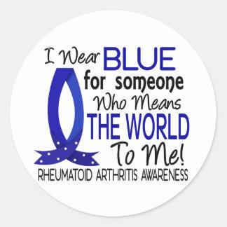 Significa el mundo a mí artritis reumatoide etiqueta