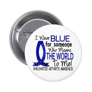 Significa el mundo a mí artritis reumatoide pin redondo de 2 pulgadas
