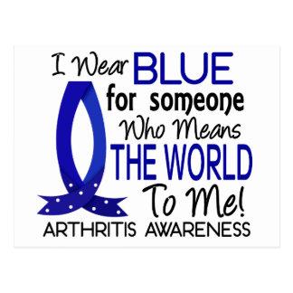 Significa el mundo a mí artritis tarjeta postal