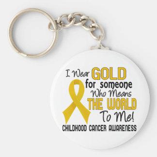 Significa el mundo a mí cáncer de 2 niñeces llavero personalizado