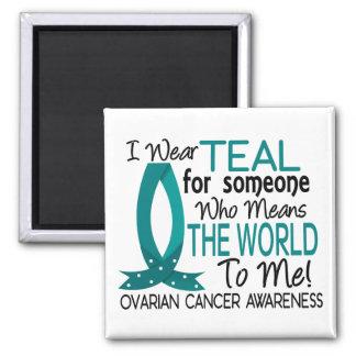Significa el mundo a mí cáncer ovárico imán cuadrado
