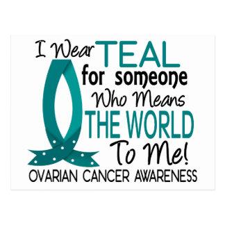 Significa el mundo a mí cáncer ovárico tarjetas postales