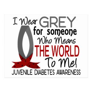 Significa el mundo a mí diabetes juvenil postal