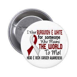 Significa el mundo a mí el cáncer de cabeza y cuel pin redondo de 2 pulgadas