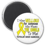Significa el mundo a mí el cáncer testicular 2 imán de frigorifico